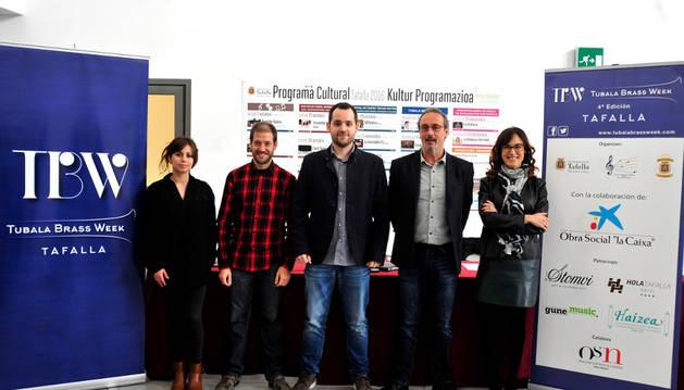 Desde la izda., Ángela Irañeta; Óscar de Esteban, Íñigo Remírez de Ganuza, Arturo Goldaracena y María Murillo.