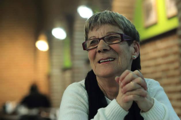 Carmen Barriga Villalón, esta semana, en una cafetería de Pamplona.