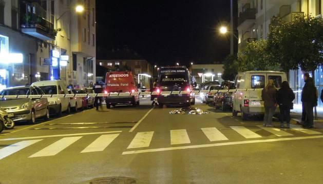 Muere un peatón de 85 años tras ser atropellado en la calle Divina Pastora de Ansoáin