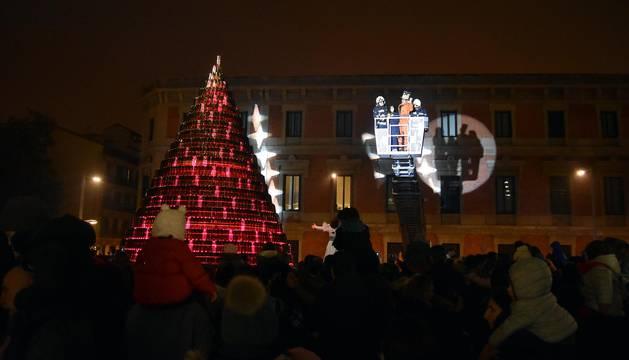 Encendido del árbol navideño de la Mancomunidad
