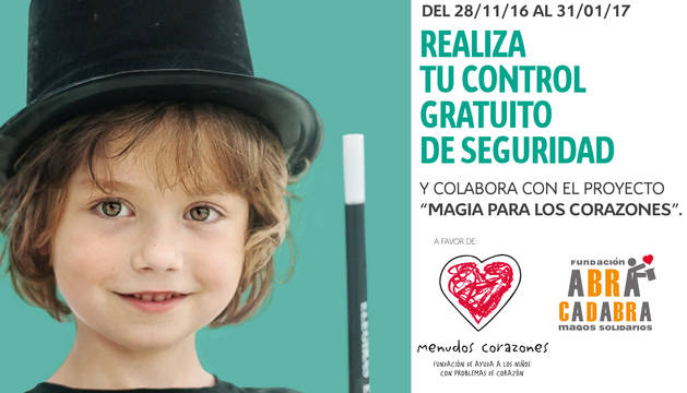 Imagen de la campaña de Citroën - Cirmauto y las fundaciones Menudos Corazones y Abracadabra.