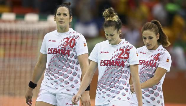 Las 'Guerreras', con Nerea Pena, en los cuartos de final ante Francia