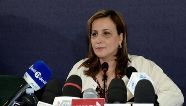 La ministra argelina de Mujer, Familia y Solidaridad Nacional, Mounia Meslem.