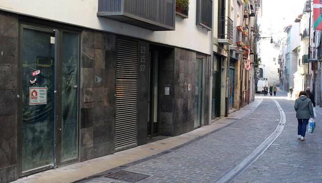 Portal de Descalzos donde se ubicará el parking de bicis.
