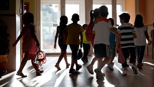 Varios niños en un colegio de Madrid.