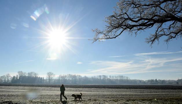 Sol y temperaturas de hasta 12 grados en Navarra a quince días de la Navidad