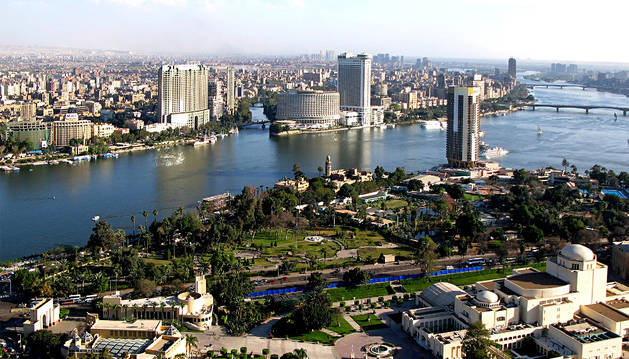 Vista aérea de una zona de El Cairo.