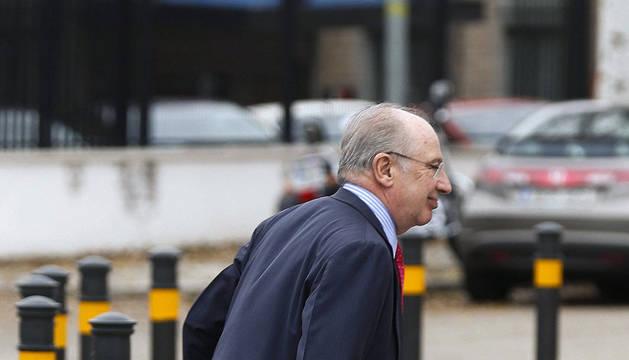 Imagen de Rato, a su llegada a la Audiencia Nacional