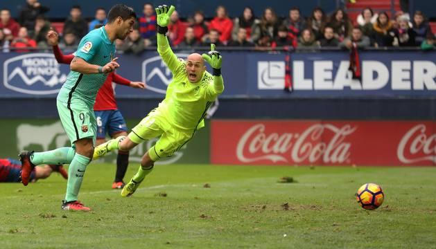 Nauzet, en la jugada del primer gol.