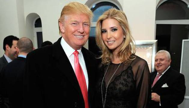 Foto de Ivanka Trump, junto a su padre.