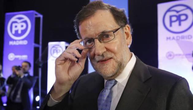 Rajoy acude a la cena de Navidad del PP.
