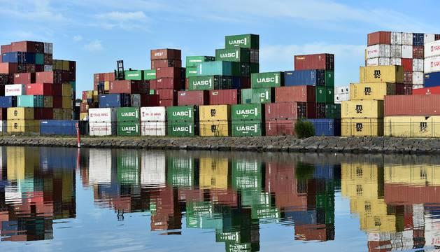 foto de contenedores para las exportaciones