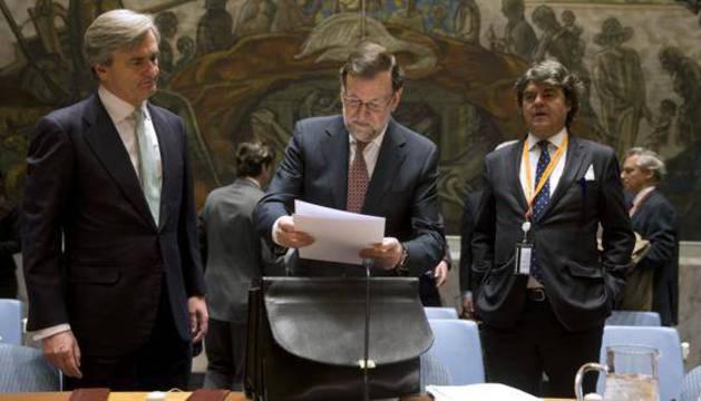 Rajoy se prepara para su discurso en la ONU.