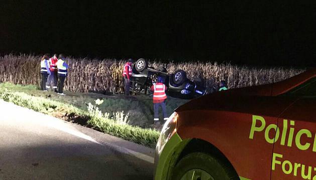 Un muerto en un accidente de tráfico en Peralta