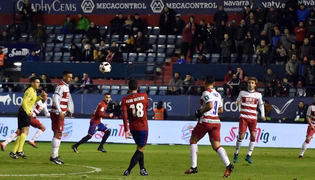 Imágenes correspondientes al encuentro de vuelta de los 16º de final de la Copa del Rey, disputado en El Sadar.