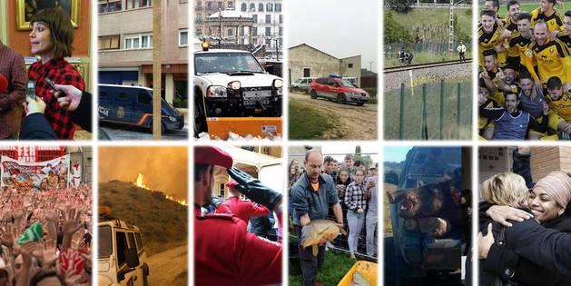 Fuego, nieve y fauna, entre los temas de las noticias que 2016 deja en Navarra