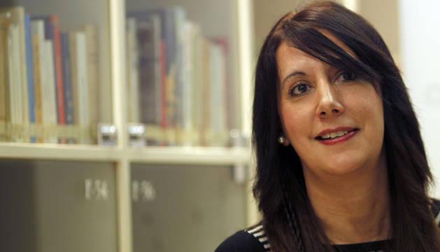 Dolores Redondo en el club de lectura de Diario de Navarra