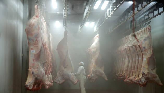 Imagen de la sala de faenado, por donde cada semana han pasado estos últimos años casi 3.000 animales.