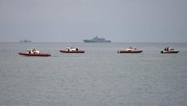 Varias víctimas del siniestro aéreo en el mar Negro llevaban chaleco salvavidas