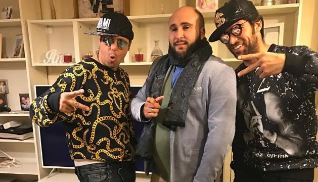 Kiko Rivera junto a Francisco y Cayetano, en la foto subida a Instagram.