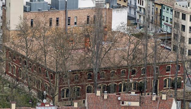 Imagen de la casa consistorial de Estella, en el paseo de la Inmaculada de la localidad.