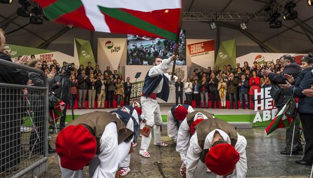 Celebración del Aberri Eguna (Día de la Patria Vasca).