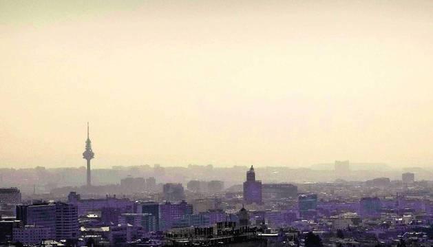 Vista de Madrid en la que se aprecia la contaminación.