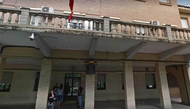 Exterior de la comisaría de la Policía Nacional en Tudela.