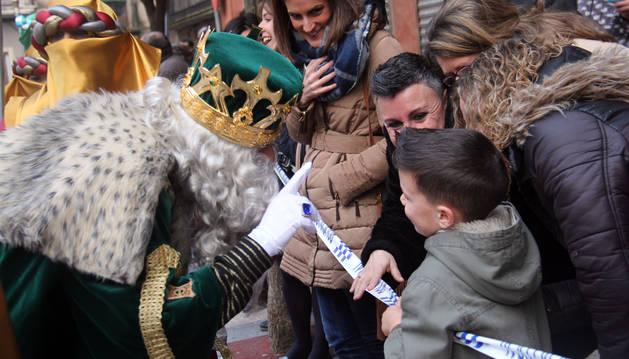 Una imagen de archivo de la cabalgata de los Reyes Magos en Cintuénigo.