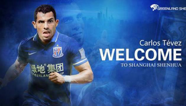 El Shanghai Shenhua da la bienvenida a Carlos Tévez.