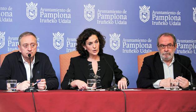 Concejales de Geroa Bai en Pamplona.