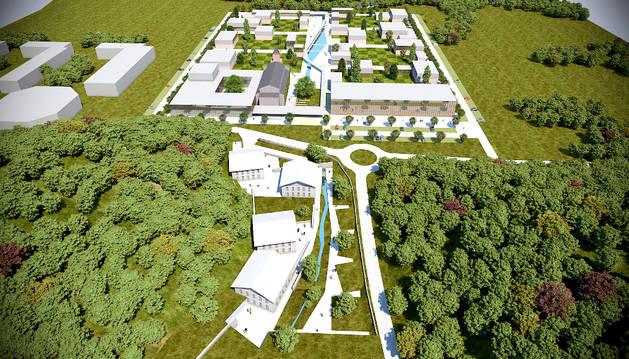 Imagen virtual del Campus Empresarial de Lekaroz.