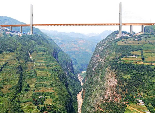 Imagen del puente más largo del mundo, en el sur de China.