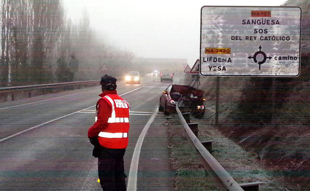Otra imagen de uno de los accidentes.