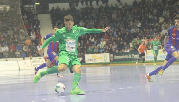 Araça, en el partido contra el Barcelona.