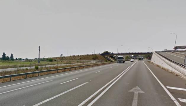 Imagen del tramo de la N- 232 afectado.