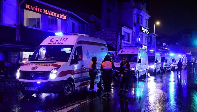 Imágenes del ataque en una fiesta de Año Nuevo en la capital de Turquía.
