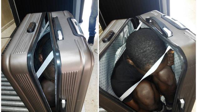 Ante la actitud evasiva de la joven y su nerviosismo la Guardia Civil le solicitó que abriera la maleta que portaba.