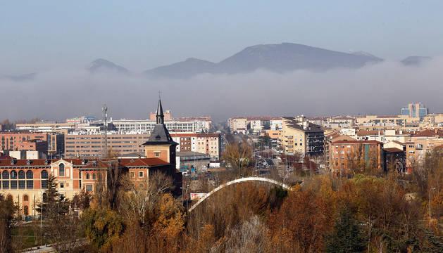 Brumas sobre el norte de Pamplona.