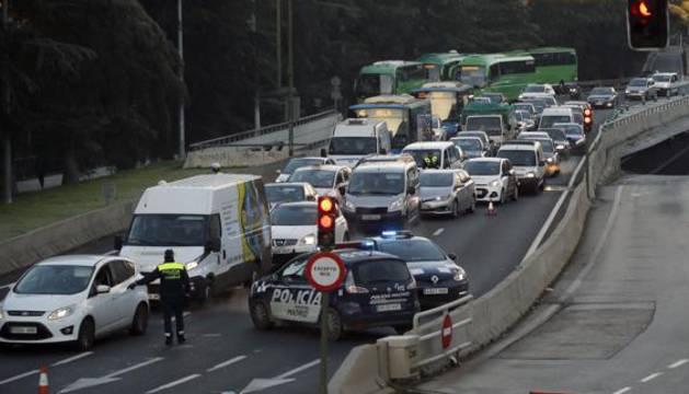 Controles policiales en Madrid.