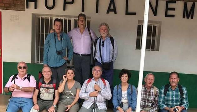 Durante la visita de los miembros de Napardi