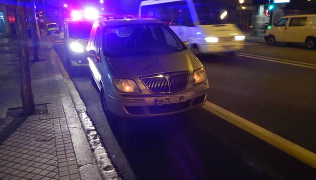 Foto de la Policía Municipal de Pamplona, en el lugar del suceso.