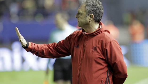 Joaquín Caparrós, en el partido de Copa contra el Eibar.
