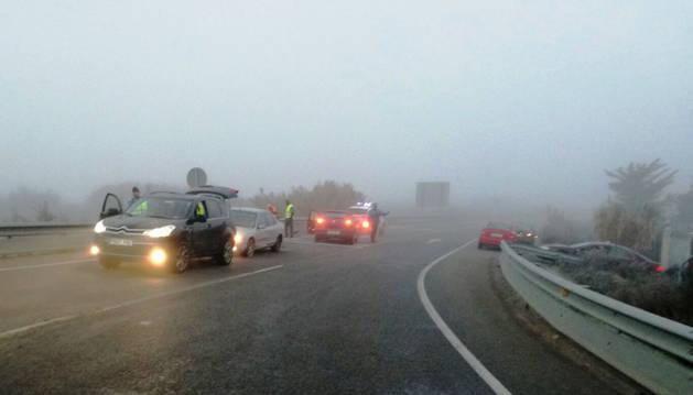 Foto de los vehículos implicados en la colisión.
