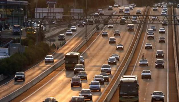 Vista de la A6 en sentido de entrada a Madrid.
