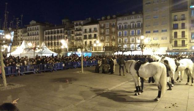 Suspendido el Festival de los Reyes Magos en Pamplona por la caída de un jinete