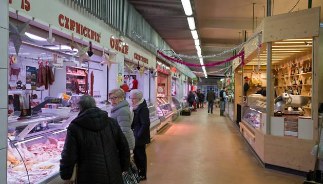 Imagen del puesto del mercado en el que se produjo el accidente.