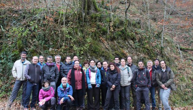 Imagen de los técnicos del proyecto 'Green' en un encuentro celebrado en noviembre en Bertiz.