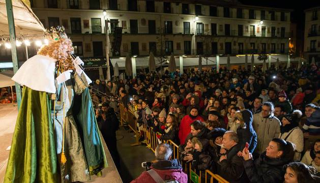 Melchor, Gaspar y Baltasar han llenado de ilusión las calles de Tudela