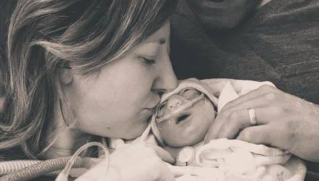 La familia Ahern, con Annie, en una imagen de su blog.